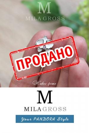 """Шарм Пандора """"Большая белая орхидея"""", УЦЕНКА"""