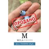 """Бусина Пандора муранское стекло """"Голубой ограненный кристалл"""" УЦЕНКА"""