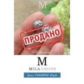 """Клипса Пандора """"Поэтические бутоны"""" (серебро), УЦЕНКА"""