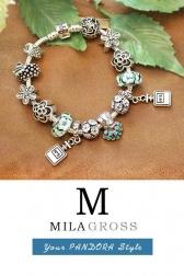"""Элитный браслет Пандора с бусинами из муранского стекла """"Chanel Tropic"""""""