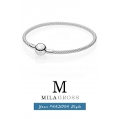 Браслет Пандора с цепным плетением (Pandora mesh bracelet), серебро
