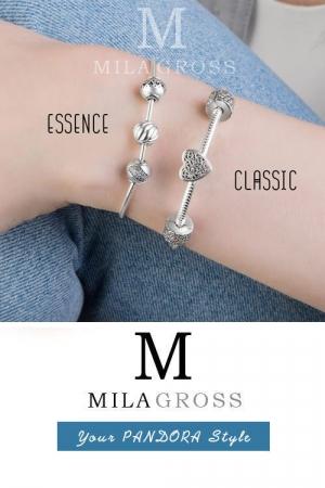 Тонкий браслет-основа Пандора Essence (серебро)