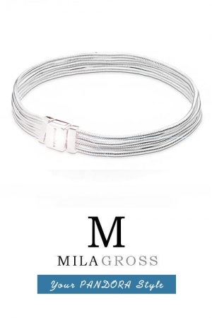 Браслет основа Пандора Reflexions Multi Snake Chain Bracelet (серебро), Новая коллекция!