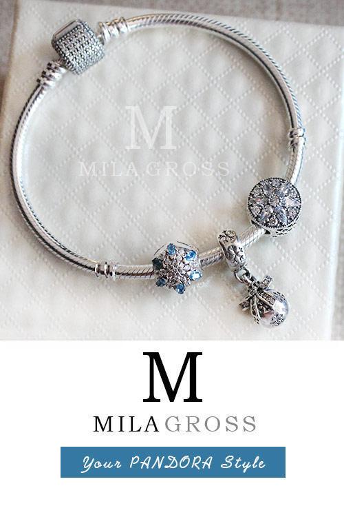 браслет Pandora первый снег серебро 925 купить браслет пандора
