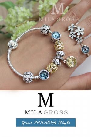 """Эксклюзив: дизайнерский браслет Pandora """"Soul"""" (Душа), серебро 925 пробы с позолотой"""