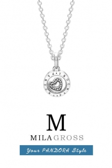 "Серебряное ожерелье Pandora ""Floating locket necklace"", серебро 925"