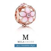 "Шарм Пандора Rose 2018 ""Цветок магнолии / Magnolia bloom charm"" (серебро, позолота)"