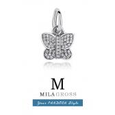 Шарм подвеска Пандора сказочная бабочка паве серебро