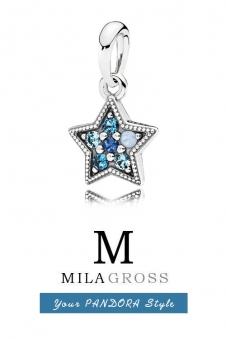 Шарм подвеска Пандора Яркая звезда / Bright Star pendant, (серебро)