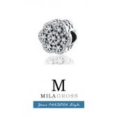 "Шарм Пандора ""Кристальный цветок"" (Crystalised Floral, серебро 925 пробы)"