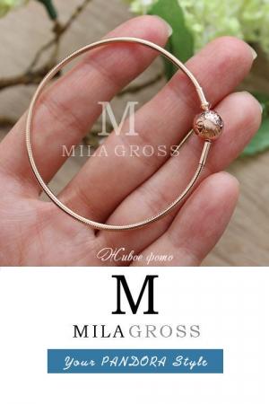 Основа Пандора Essence Rose (серебро с позолотой)