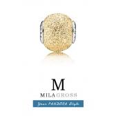 "Шарм бусина Pandora Essence ""Wisdom Gold"" Мудрость золото (серебро 925)"