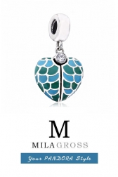 "Подвес кулон Пандора ""Mosaic Heart"" / Сердце мозайка (серебро 925 с эмалью), ХИТ!"