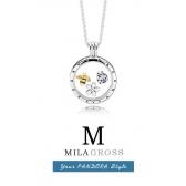 """Средний локет-медальон Пандора с петитами """"Пчелка"""" (серебро 925), Новая коллекция!"""