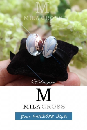 Бусина Пандора муранское стекло Waves (лимитированная серия, серебро)