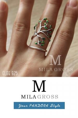 """Дизайнерское кольцо """"Древо"""" (серебро 925). Горячая цена!"""