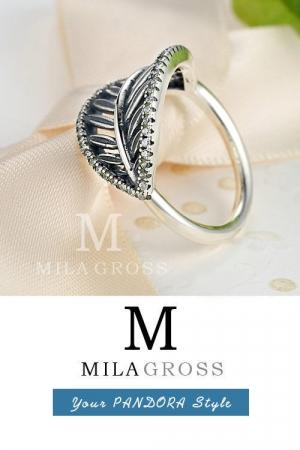 """Эксклюзивное кольцо Pandora """"Лист"""" (Tropical Ring), серебро"""