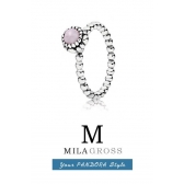 "Кольцо Pandora ""Талисман мая"" (birthstone May Opal), серебро"