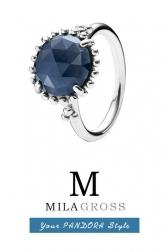 "Кольцо Pandora ""Синий кристалл"" Midnight Star (Retired), серебро 925"