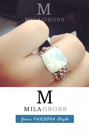 """Лимитированное кольцо Пандора """"Mother of Pearl"""" (серебро)"""