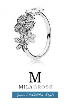"""Кольцо Pandora """"Сверкающий букет"""" Shimmering bouquet, серебро"""