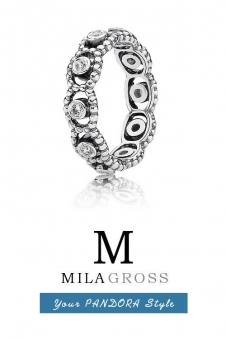 "Серебряное кольцо Pandora ""Ее величество"" (Romance ring), серебро"