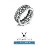 "Серебряное кольцо из коллекции Пандора осень ""Vintage Allure"" (серебро)"