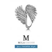 """Кольцо Pandora """"Волшебные перья"""" (Majestic Feathers Ring), серебро"""