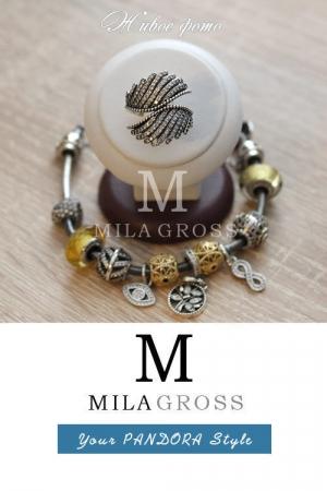 "Кольцо Пандора ""Волшебные перья"" (Majestic Feathers Ring), серебро"