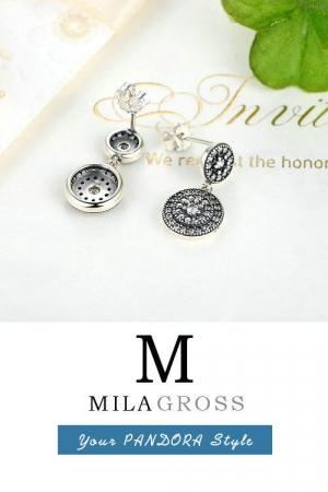 """Серьги Pandora """"Вечная красота"""" Radiant Elegance (серебро 925)"""