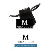 Фирменный мешочек для шармов Pandora, черный замш (8 см * 7 см)