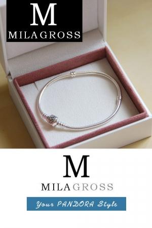 Белая фирменная коробочка для браслетов Pandora (9 см * 9 см)