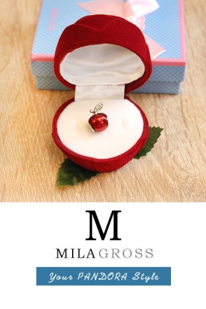 "Подарочная коробочка для шармов Пандора ""Цветок розы"""