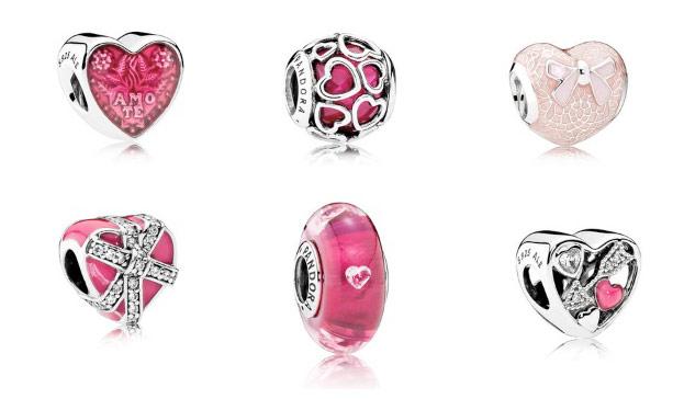 Шармы день Святого Валентина Pandora 14 февраля
