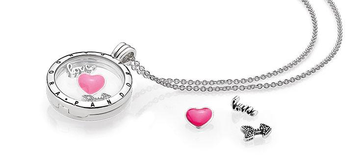 Pandora Медальон ко дню святого Валентина купить