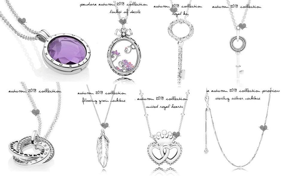Ожерелья медальоны Пандора осенняя коллекция 2018