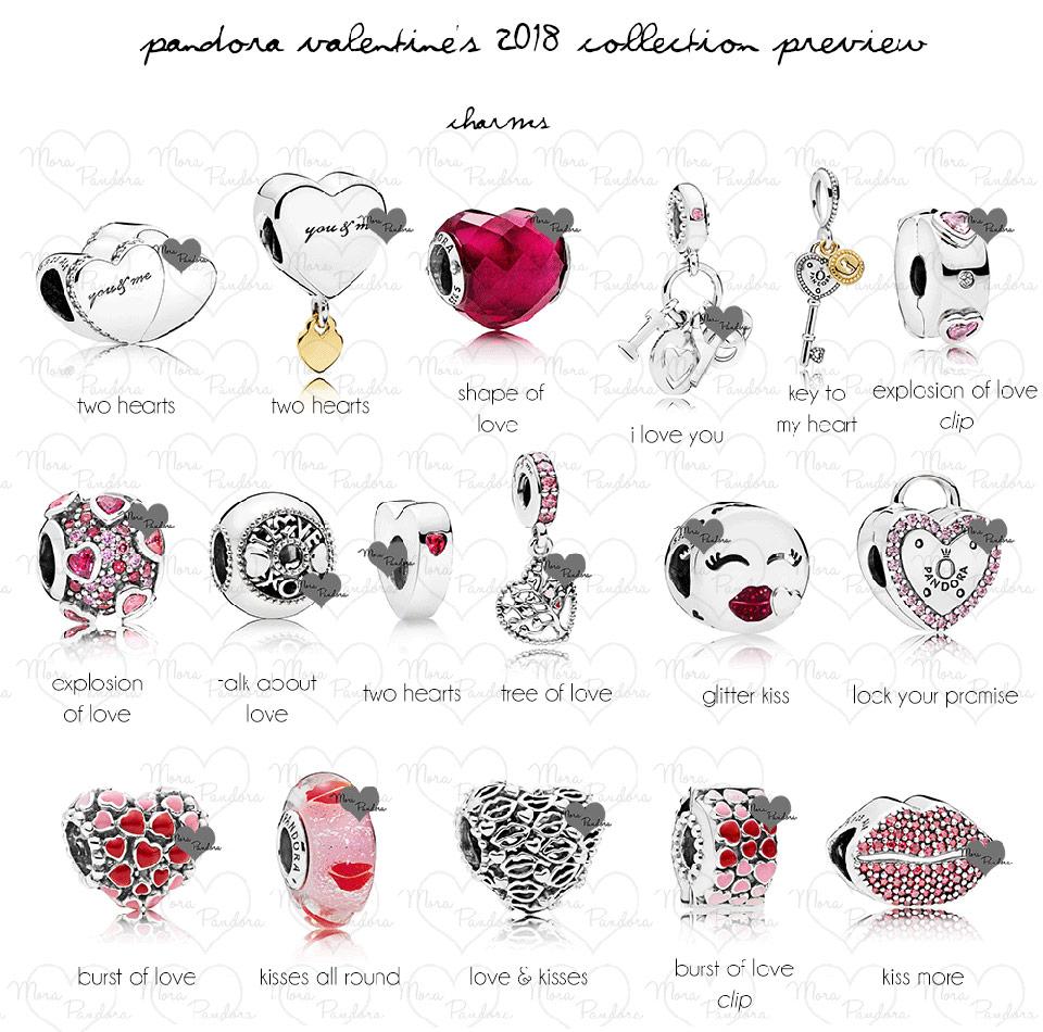 Шармы Пандора коллекция День Св. Валентина 2018 обзор - купить в Украине