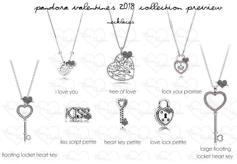 Подвески, медальоны и ожерелья Пандора на день Св. Валентина 2018